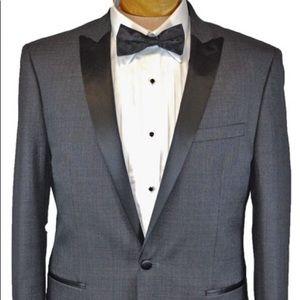 New Mens Calvin Klein Gray Tuxedo Jacket 44L